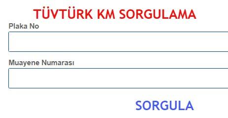 Tüvtürk Km Sorgulama
