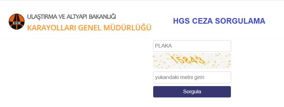 KGM HGS CEZA SORGULAMA